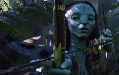 Neytiri with bow