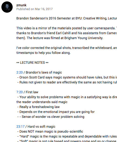 All Sanderson Lectures Now Available – Curving Space